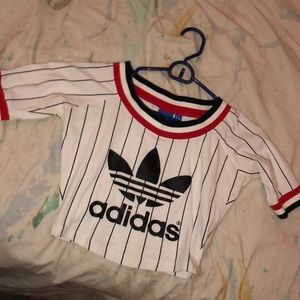 Adidas baseball crop top